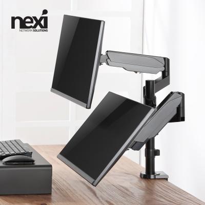 (NEXI) 가스스프링 듀얼모니터 암 거치대 (NX1193)