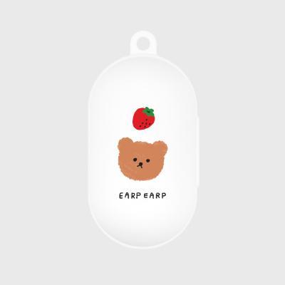 Dot strawberry bear-white(buds jelly case)