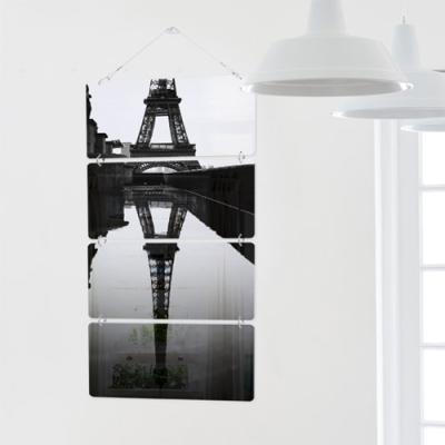 nk397-멀티아크릴액자_물에비친에펠탑(4단)