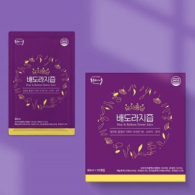 천마니 유자퐁당 배도라지즙 80ml x 10포(800ml)
