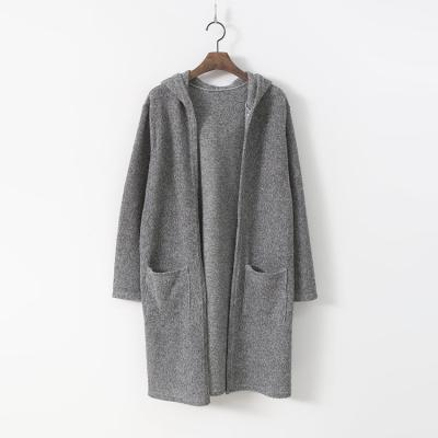 Melange Hood Long Cardigan
