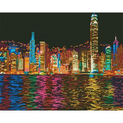 아이엠미니 DIY 보석십자수 40x50_홍콩의 야경