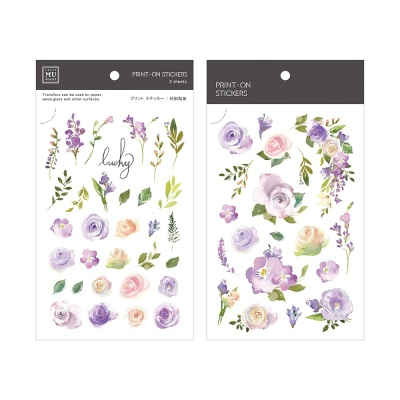 Miccudo 프린트-온 스티커 Ver.2 (24. Lilac Purple)