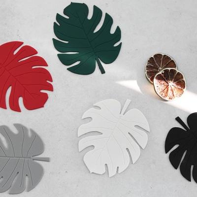 [N365] 르리에 나뭇잎 실리콘 컵받침 2P 세트