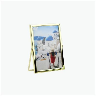 탁상 메탈 프레임 사진 액자 - 골드 (gold) - 5x7
