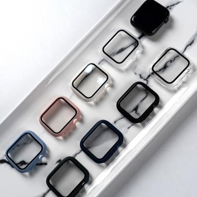 애플워치 무지 하드 케이스 풀커버 액정보호 강화유리