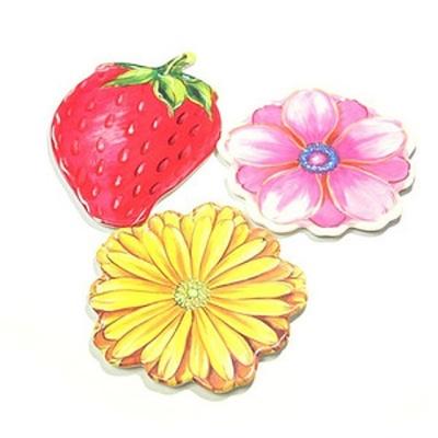 니드 멜라민 딸기 냄비받침대