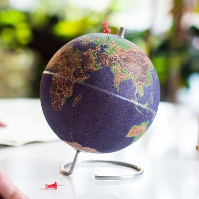 [썩유케이] 컬러 코르크 지구본 메모 꽂이 보드판