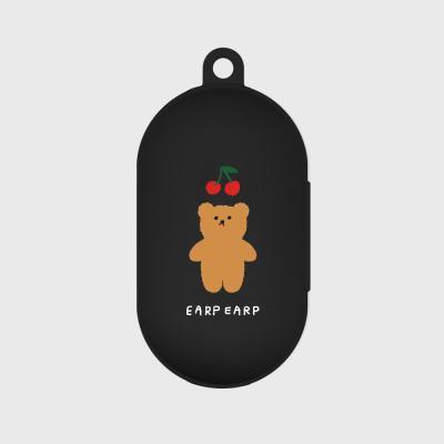 Cherry big bear-black(Buds jelly case)