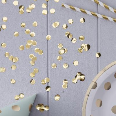 골드 라운드 컨페티 Metallic Gold Confetti