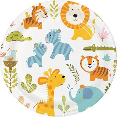 해피정글 9인치 종이접시 Happy Jungle Paper plate