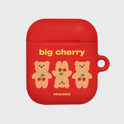 Three cherry big bear-red(Hard air pods)