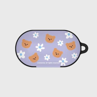 Dot flower bear-purple(Buds hard case)
