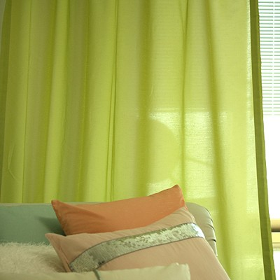 sweet april green curtain