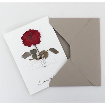 [향기카드] 압화 미니카드 - 장미