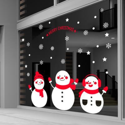 cc490-눈사람들(대형)_크리스마스스티커