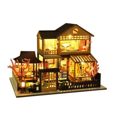 DIY 미니어처 풀하우스 - 벚꽃 2층 하우스