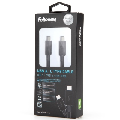 프리미엄 USB 3.1 C타입-C타입 케이블 블랙 1M (99280)