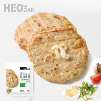 [허닭] 오븐 닭가슴살 스테이크 청양고추 100g 1+1