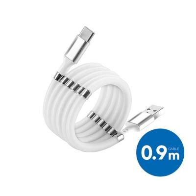 USB A->타입C 자석형 꼬임방지 고속충전케이블(0.9M)