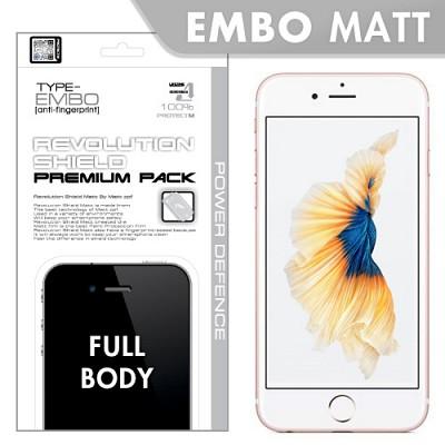 [프로텍트엠/PROTECTM] 레볼루션쉴드 엠보팩 지문방지 전신보호방탄필름+액정보호필름 아이폰6S플러스/6플러스 iPhone6S Plus/6S Plus 5.5인치