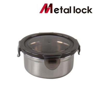메탈락 스텐밀폐용기 (원형2호 20개입)
