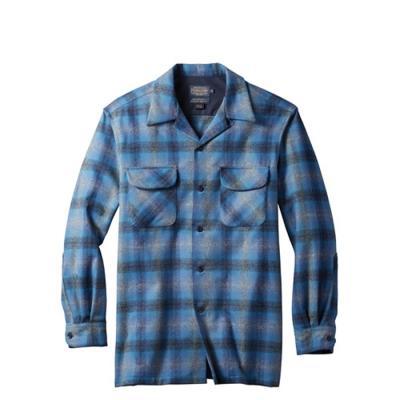 [펜들턴] 보드 셔츠 울 체크 멀티블루