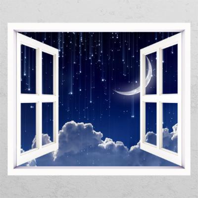 tm643-별빛이내리는_창문그림액자