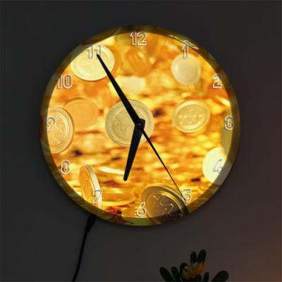 nf723-LED시계액자25R_시간은돈이다