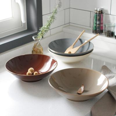 에크렌 골드 림(rim) 샐러드 볼 - 4color