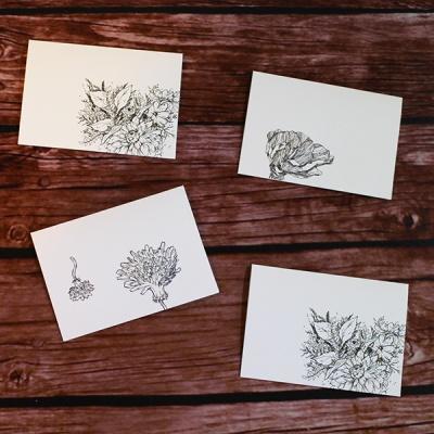 아이씨엘 드로잉 카드- flower Ver.1