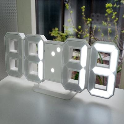 지성아이엔씨 3D LED 미니 벽시계 겸용 탁상시계