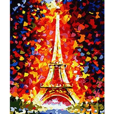 DIY 명화그리기세트 - 에펠탑 물감2배/컬러캔버스