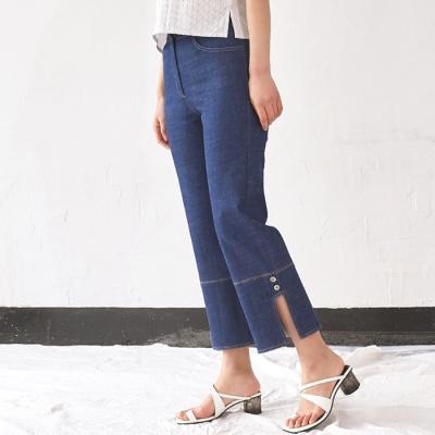 Side Slit Denim Pants (BU)