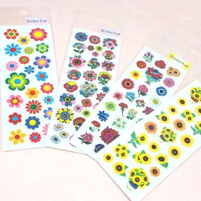 스티커펀 글리터 꽃 스티커(st135)