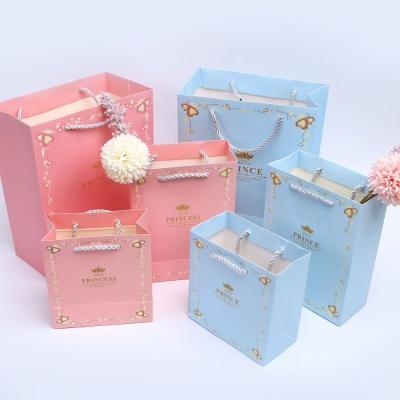 왕자와공주 핑크L 답례품 손가방 선물 쇼핑백
