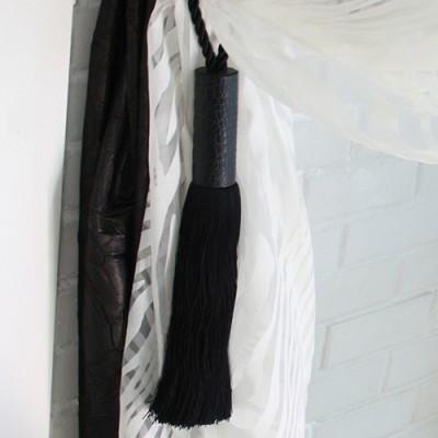 leather tieback - black