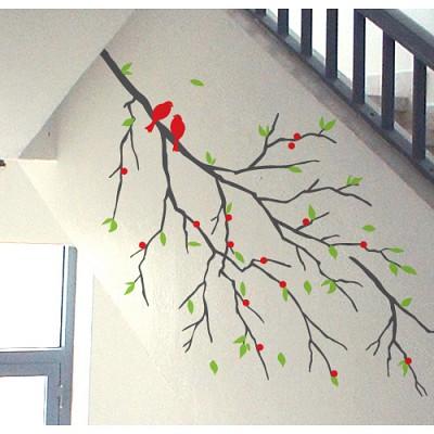 [디자인베이]  시골나무 (반제품A타입) 그래픽스티커 나무 포인트 시트지