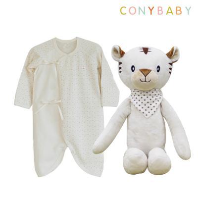 [CONY]오가닉남아배냇가운선물세트(수면백호랑이)