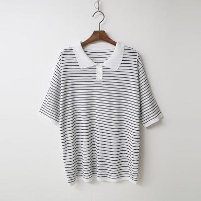 Stripe Collar Knit