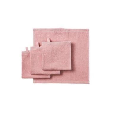 심플 핑크 핸드타올 4개1세트