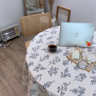 에블린 린넨 들꽃 방수 식탁보 4인L