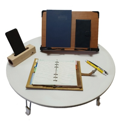에이스독서대 접이식 다용도 원형 테이블 좌식책상