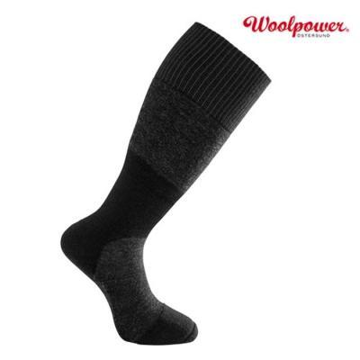 [WOOLPOWER] 울파워 스킬드 무릎높이 양말 400 다크그레이+블랙 (8824)