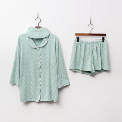 Pastel Dot Pajamas Set - 안대포함