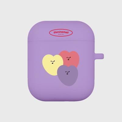 mellow heart 에어팟 케이스[purple]