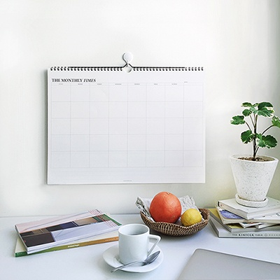 The Monthly Times - wall planner(벽걸이 플래너)