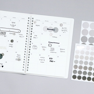 [SET] 기본 스티커 세트_6종 (원형)
