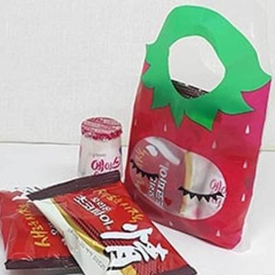 미니 비닐팩 딸기유치원 아이들 소풍 간식 포장