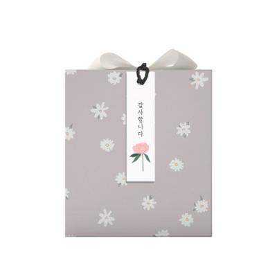 땡큐 분홍꽃 텍 (10개)
